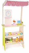 Kaufladen Verkaufsstand inkl. 18-teiligem Zubehör Holz Puppenkinder Puppenküche