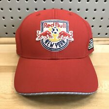 New York Red Bulls MLS Soccer Club Adidas Stretch Fitted Red Hat L/XL EUC Cap