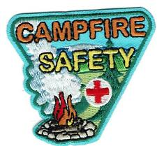Girl Boy Cub camp CAMPFIRE SAFETY Fun Patches Crests Badges SCOUT GUIDE bon fire