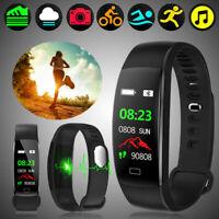 Fitness Armband mit Pulsmesser Wasserdicht IP68 Tracker Farbbildschirm De