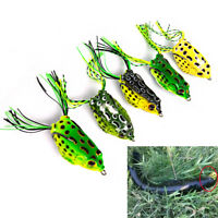 5* Fishing Lures Frog Topwater Crankbait Hooks Bass Bait Tackle Fast Shipping