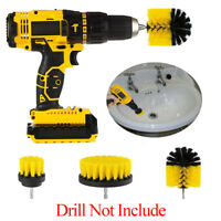 3Pcs/Set Drill Brush Attachment for Cleaning Tile Grout Power Scrubber Tub Combo