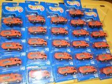 (26) LOT HOT WHEELS ALL BLUE CARD RECYCLING GARBAGE TRASH ORANGE TRUCKS #143