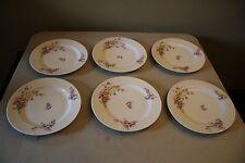 Set Of 6 Vintage Limoges S & C China Dinner Plates Pink & Purple Flower Design