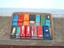 A JOB LOT OF 14 LAND ROVERS 7 MATCHBOX 3 CORGI 2 HUSKY 2 MAJORETTE WELL USED