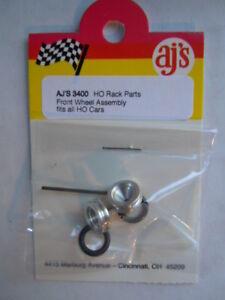 Aluminum  Front Wheel Kit for Super II  Aurora AFX and Auto World Slot Car