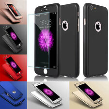 Airbot 360° Shockproof Case + Tempered Glass Case Cover For iPhone 5 SE 6 7 Plus