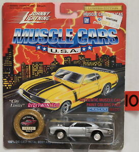 Johnny Lightning Músculo Coches Serie 10 1970 Súper Bee Plata Con +