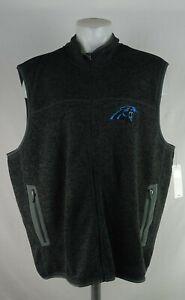 Carolina Panthers NFL G-III Men's Gray Full-Zip Vest