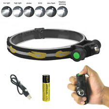 BORUiT Tactical Headlamp XM-L2 LED Headtorch 18650 Fishing Headlight Flashlight