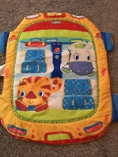 Bright Starts Baby Play Mat With Tummy Time Pillow Tiger Zebra Steering Wheel
