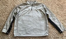 Nike Men's Therma Fit Quarter Zip Sweatshirt Size Large Gray Pullover