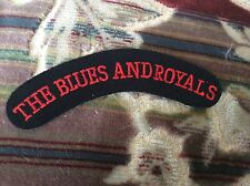 NEW ARMY UNIFORM BLUES AND ROYALS SHOULDER FLASH HOUSEHOLD CAVALRY RED ON BLACK