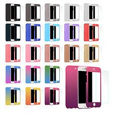 Full Cover Schutzhülle Handy Hülle 360 Grad Case Bumper für Samsung iPhone
