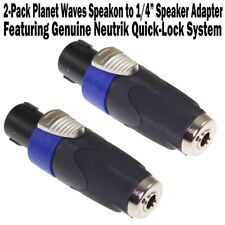 "2-Pack Planet Waves Neutrik SpeakOn to 1/4"" Speaker Adapter Female Cable NEW"