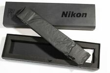 NIKON 100th Anniversary Black Leather Camera Neck Strap DSLR (Rare Limited)