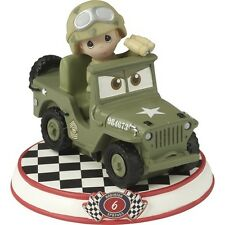 $ PRECIOUS MOMENTS DISNEY Figurine CARS PIXAR MOVIE Sarge Army Jeep Solider Boy