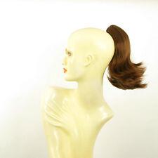 Postiche queue de cheval femme courte 28 cm châtain doré cuivré ref 9 en 30