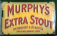 Murphys Extra Stout embossed steel sign (hi 3020)