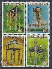 1985 PAPUA NEW GUINEA STRUCTURES SET OF 4 FINE MINT MUH/MNH