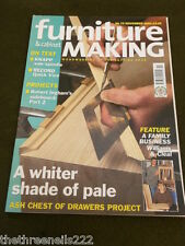 FURNITURE & CABINETMAKING - ASH CHEST OF DRAWERS - NOV 2002