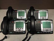 4x Nortel Networks NTDU92 Silver Bezel IP Phones