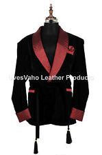 Men Black Smoking Jackets Elegant Stylish Designer Dinner Party Wear Blazer Coat