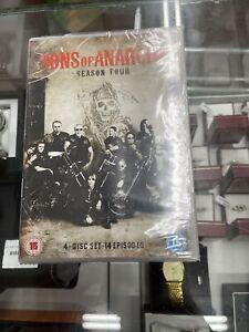 Sons of Anarchy Season 4 Series Four (Charlie Hunnam) 4 Discs New Region 4 DVD