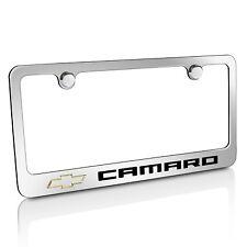Chevrolet Camaro Chrome Metal License Plate Frame