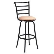 Swivel Bar Stool Steel Frame Counter Height Modern Barstool Bistro Pub Chair New