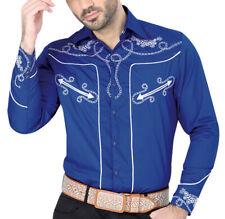 Cowboy Shirt Camisa Vaquera Western Wear El Señor de los Cielos Blue