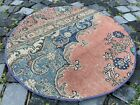 Circle, Turkish rug, Vintage rug, Handmade rug, Area rug, Wool rug | 2,7 ft