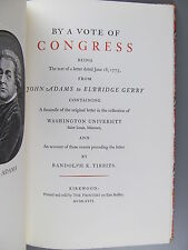 By a Vote of Congress, A Letter from John Adams, The Printery, 1976