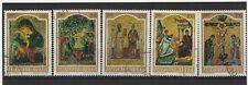 Yougoslavie  1968 icônes du moyen age 5 timbres oblitérés /T2151