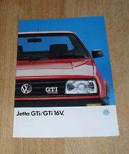 Volkswagen VW Jetta GTI & GTI 16v Brochure 1988-1989 UK Market