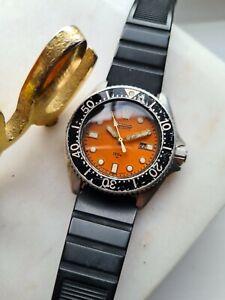 Vintage 1981 ORANGE SEIKO Diver, QUARTZ 150M Watch 2652-0010 80s Collectors