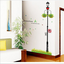 Street Lamp Light Wall Decal Sticker office room hotel home decor Reusable Vinyl
