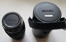 KONICA HEXAR AR 135mm f 3.5 lens with one cap and  genuine fitted case