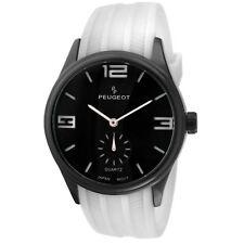 Peugeot Men's 2042WWT White Rubber Sport Japanese Quartz Watch