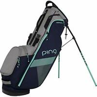 PING Golf Stand Caddy Bag HOOFER LITE 9 x 47 inch 2.4kg Navy Silver Mint