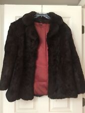 Vintage Rabbit Fur Coat Jacket Size Medium Jacket Coat Fall Winter Clothes Women