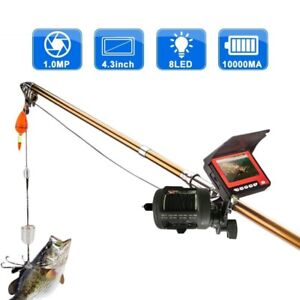 Fish Finder Camera Underwater Fishing HD Infrared LED Waterproof LCD Monitor