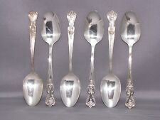 INSPIRATION / MAGNOLIA by W.M. ROGERS INTERNATIONAL, 6 TEASPOONS SILVERPLATE