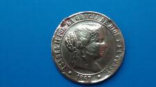 MONEDA DE ESPAÑA ISABEL II 2 1/2 ESCUDO OM AÑO: 1867