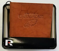 Philadelphia Eagles Super Bowl Champions BillFold Leather Wallet Premium Brown