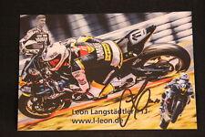 Card Yamaha YZF-R6 2016 #11 Leon Langstädtler (GER) IDM Supersport (HW) signed