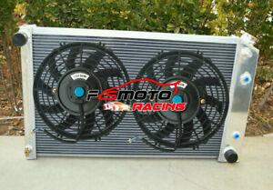 Alu Radiator + FAN For 70-81 Chevy Camaro/75-79 Nova/68-73 Chevelle/Buick Regal