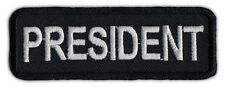 Motorcycle Jacket Embroidered Patch - President - Member Rank, Position, Status