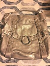 Isabella Fiore Quilted Carina XLarge Gold Metallic Leather Tote