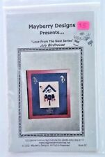 Mayberry Designs July Birdhouse Chart  Love From The Nest Series Cross Stitch